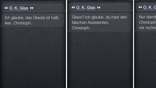 Apples Siri spottet über Google Glass