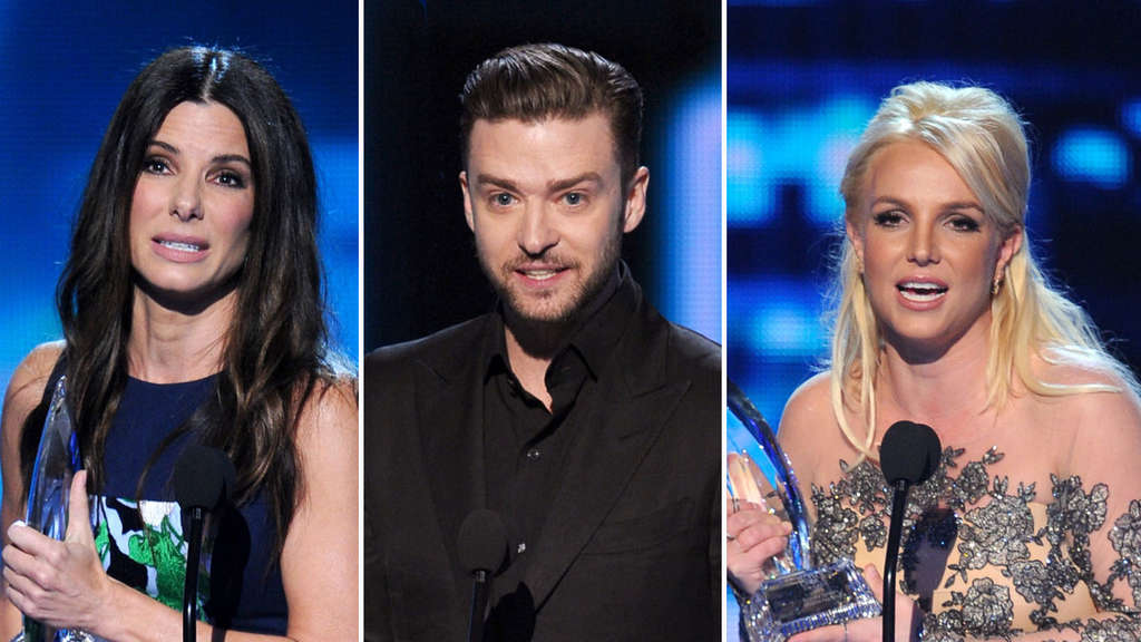 People&#39s Choice Awards Bullock, Timberlake, Britney Spears