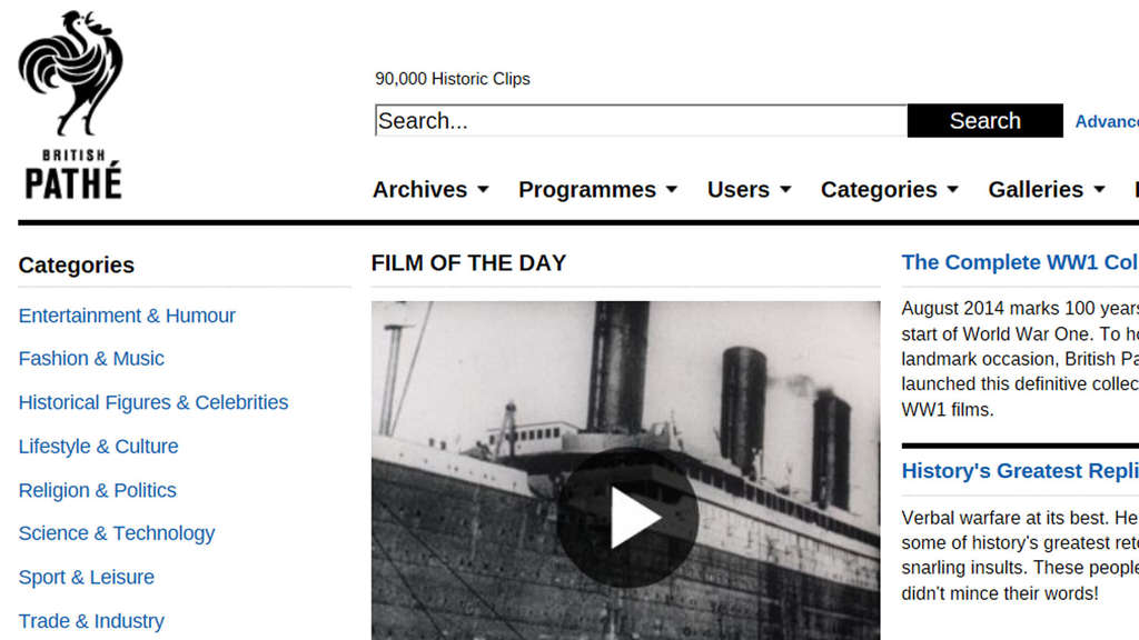 Historische Videos, Archiv, British Pathe