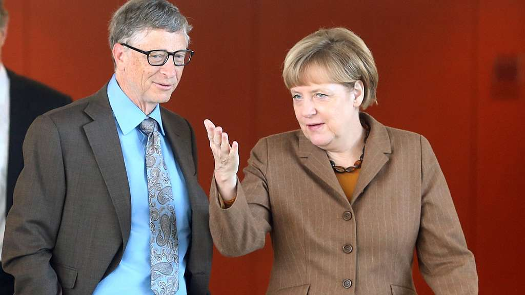Bill Gates, Angela Merkel
