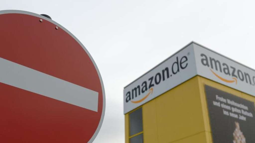 Das Logistikzentrum von Amazon in Leipzig. Foto: Peter Endig/Archiv