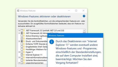 Internet Explorer aus Windows 10 entfernen