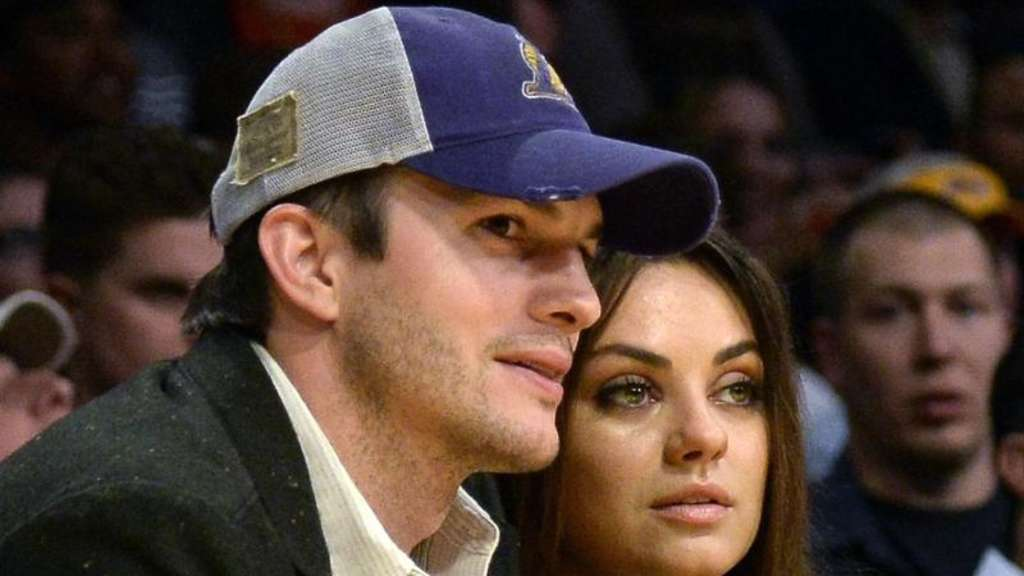 Ashton Kutcher und Mila Kunis 2014 in Los Angeles. Foto: Michael Nelson