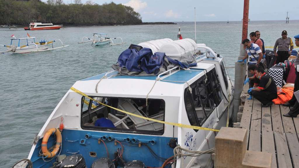 Boat accident in Bali, Indonesia