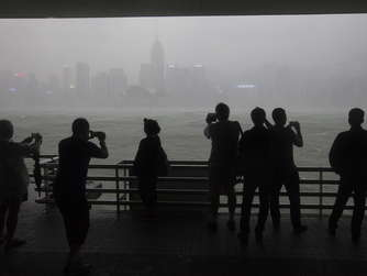 Typhoon Haima hits Hong Kong