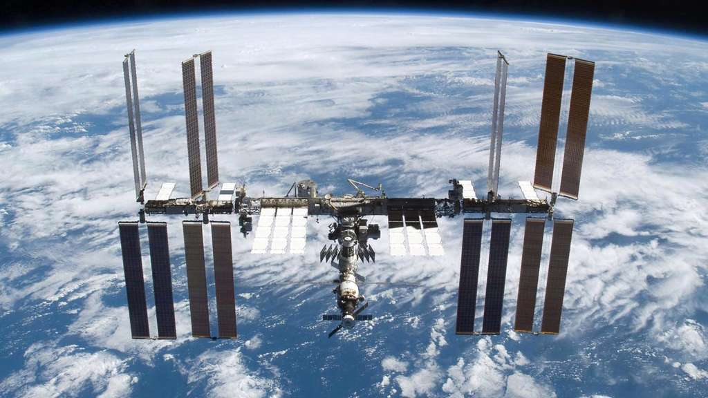 Die Internationale Raumstation ISS.