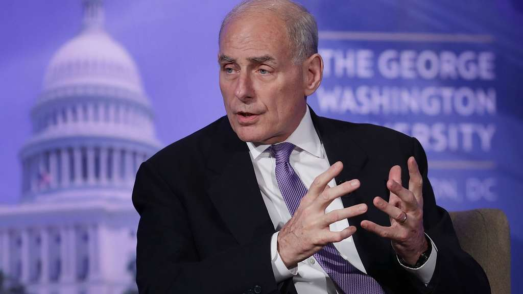 Homeland-Security-Chef John Kelly in Washington.