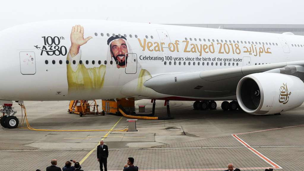 100. Airbus A380 an Emirates Airline