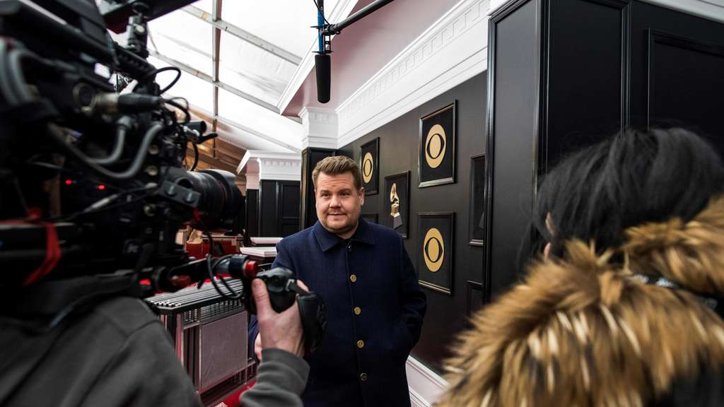 US-Talkmaster James Corden moderiert die Grammy Awards 2018.