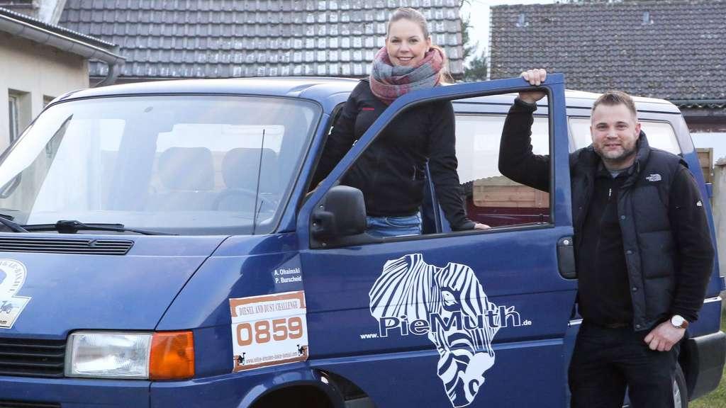 Zum zweiten Mal nach 2016 nehmen die Ahnebecker Almuth Ohainski und Piet Burscheid an der Charity-Rallye Dresden-Dakar-Banjul teil. Foto: Täger
