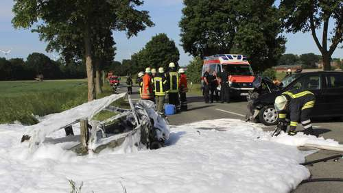 Frontal-Crash bei Molzen