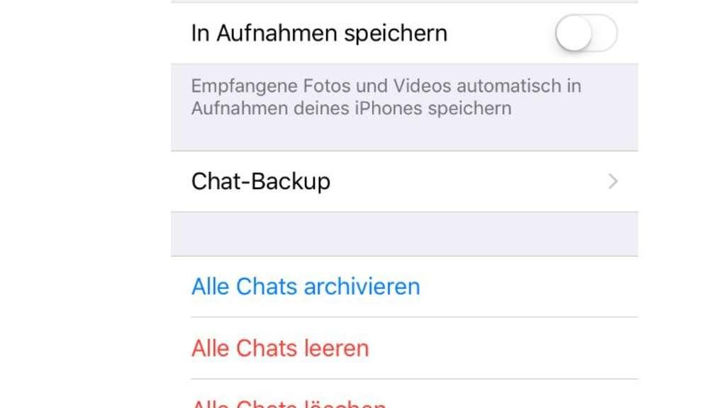 Whatsapp-Einstellungen