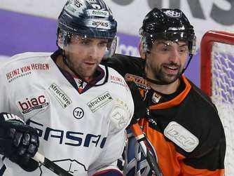 Die Grizzlys (r.) starten in Berlin.
