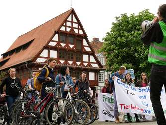 Morgen Demo der Fridays-for-Future-Bewegung in Gifhorn