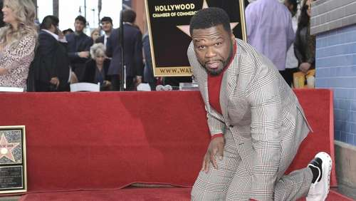 US-Rapper «50 Cent» mit Stern in Hollywood gefeiert