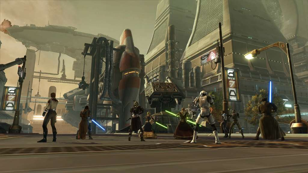 "Die Gerüchteküche rund um Star Wars Spiele brodelt. Jetzt im Gespräch: Ein Port der fast 20 Jahre alten ""Knights of the old Republic""-Reihe. (Screenshot entstammt ""Star Wars: The Old Republic"" von EA)"